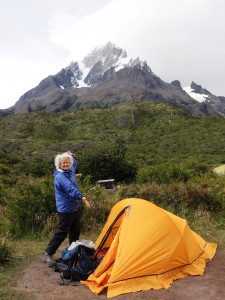 My tent at Grand Paine, Patagonia, Chile