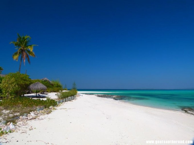 Blindingly White Sand And Crystal Clear Waters On Matemo Island Mozambique