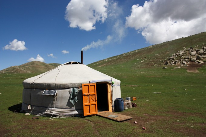 A typical Mongolian ger