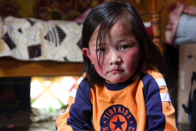 One of the many children of the Mongolian family that provided our horses.