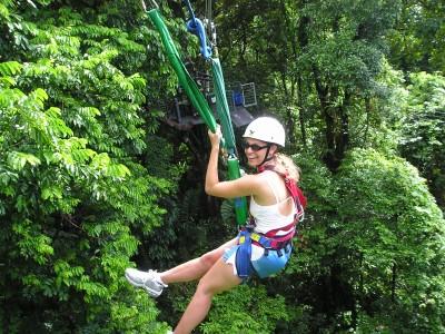 Ziplining in Cape Tribulation