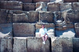 Michelle on the Pyramid of Khufu