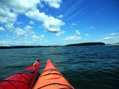 Kayaking in the Muscongus Sound