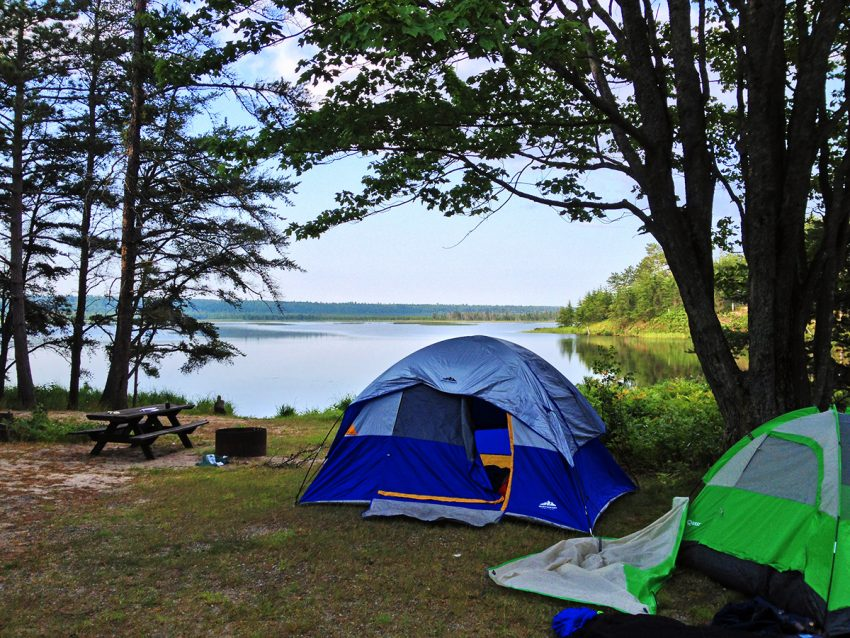 Camping on Lake Superior