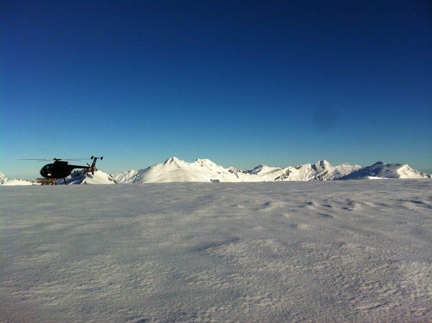 Atop Mt. Aspiring glacier.