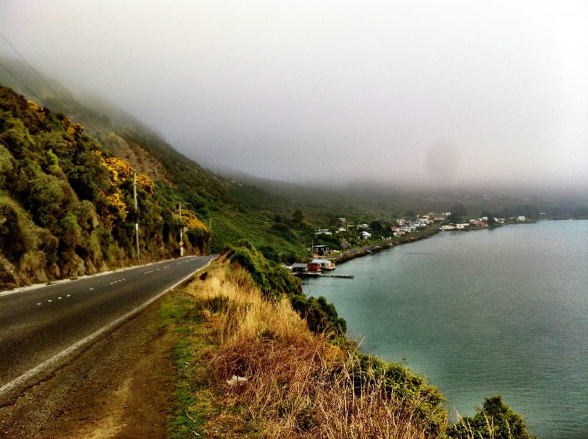 The Otago Peninsula coastline