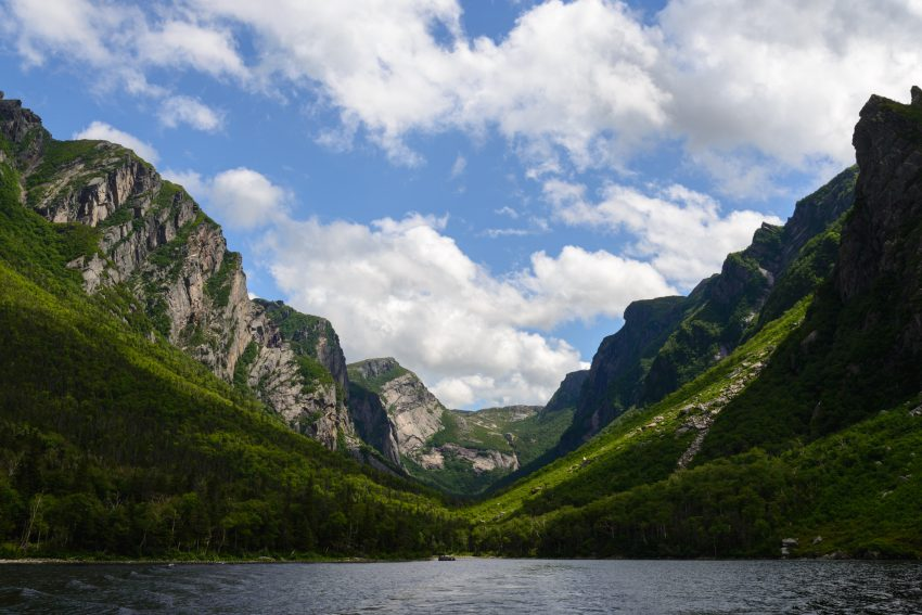 Western Brook Pond in Gros Morne National Park, Newfoundland, Canada