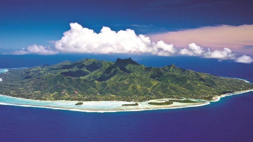 Aerial Shot of Rarotonga Love a Little Paradise: The Cook Islands