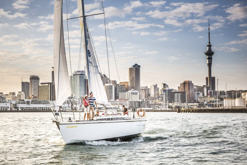 Auckland Harbour on Explore Groups Pride of Auckland Yacht (by Todd Eyre Photography)