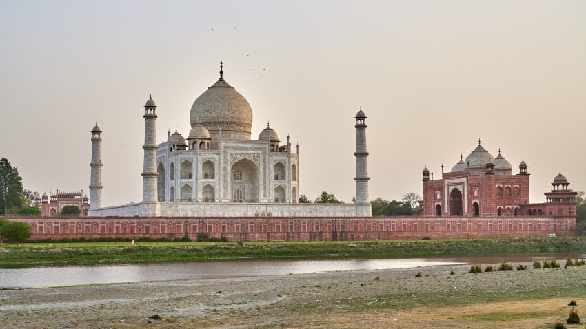 The view of the Taj Mahal from Mehtab Bagh