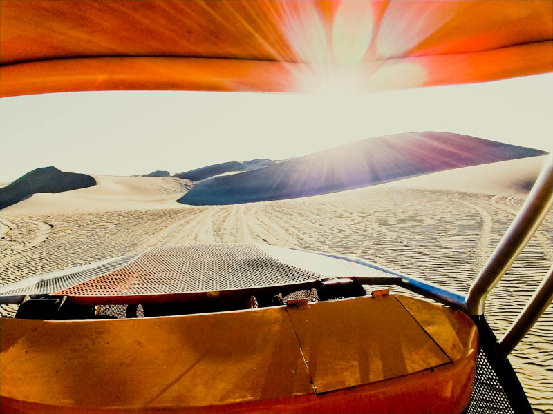 In a dune buggy