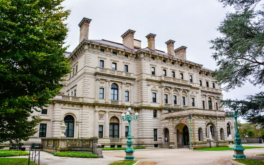 """The Breakers"", a Vanderbilt Mansion. It is a National Historic Landmark in Newport, Rhode Island"