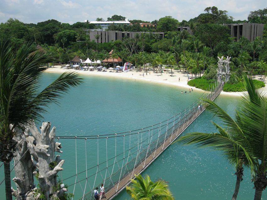 Sentosa Island beach, Singapore
