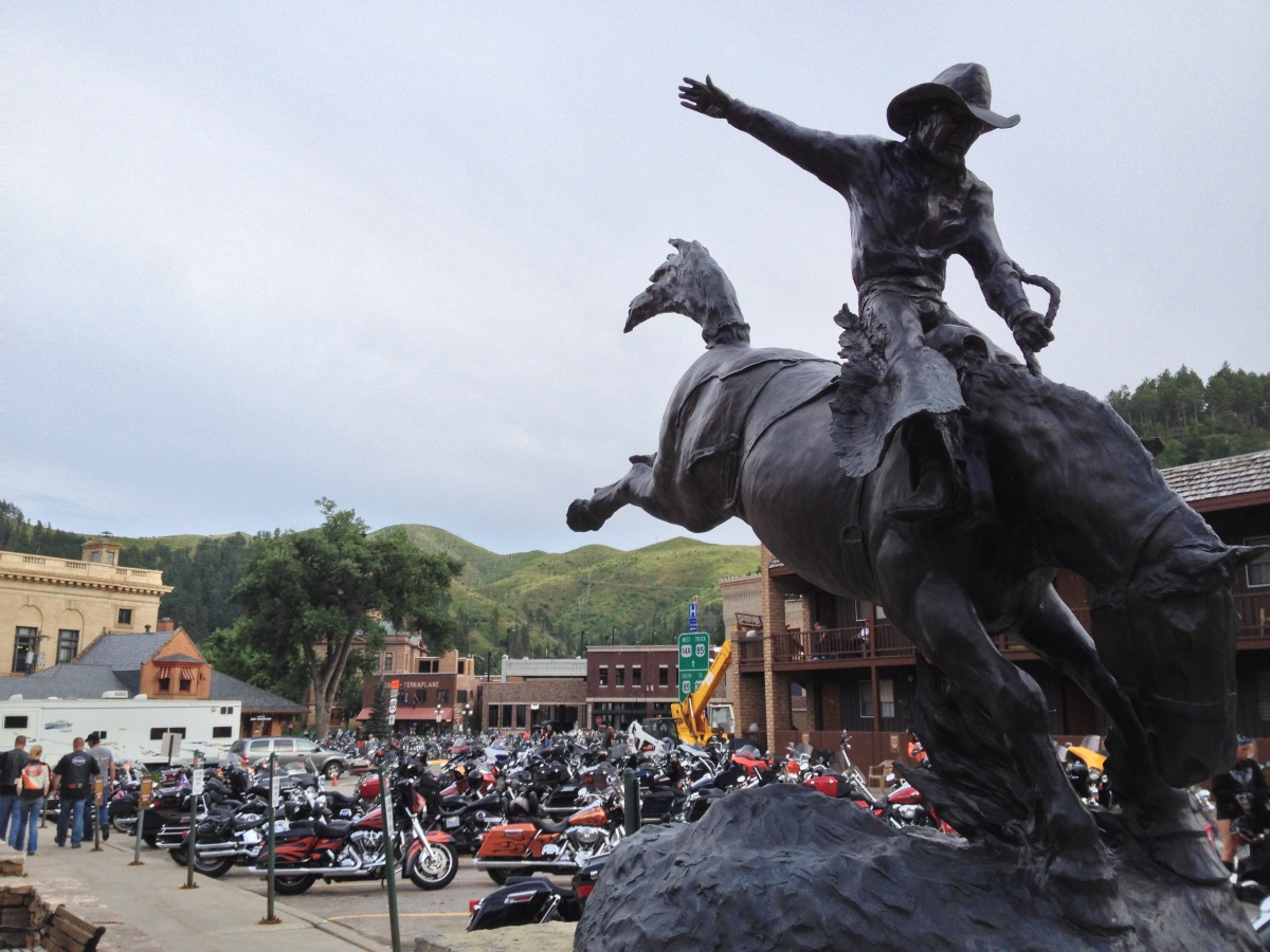 Bikers in Deadwood Life on the Road: The Great Plains