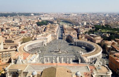 The view of Rome from the Vatican