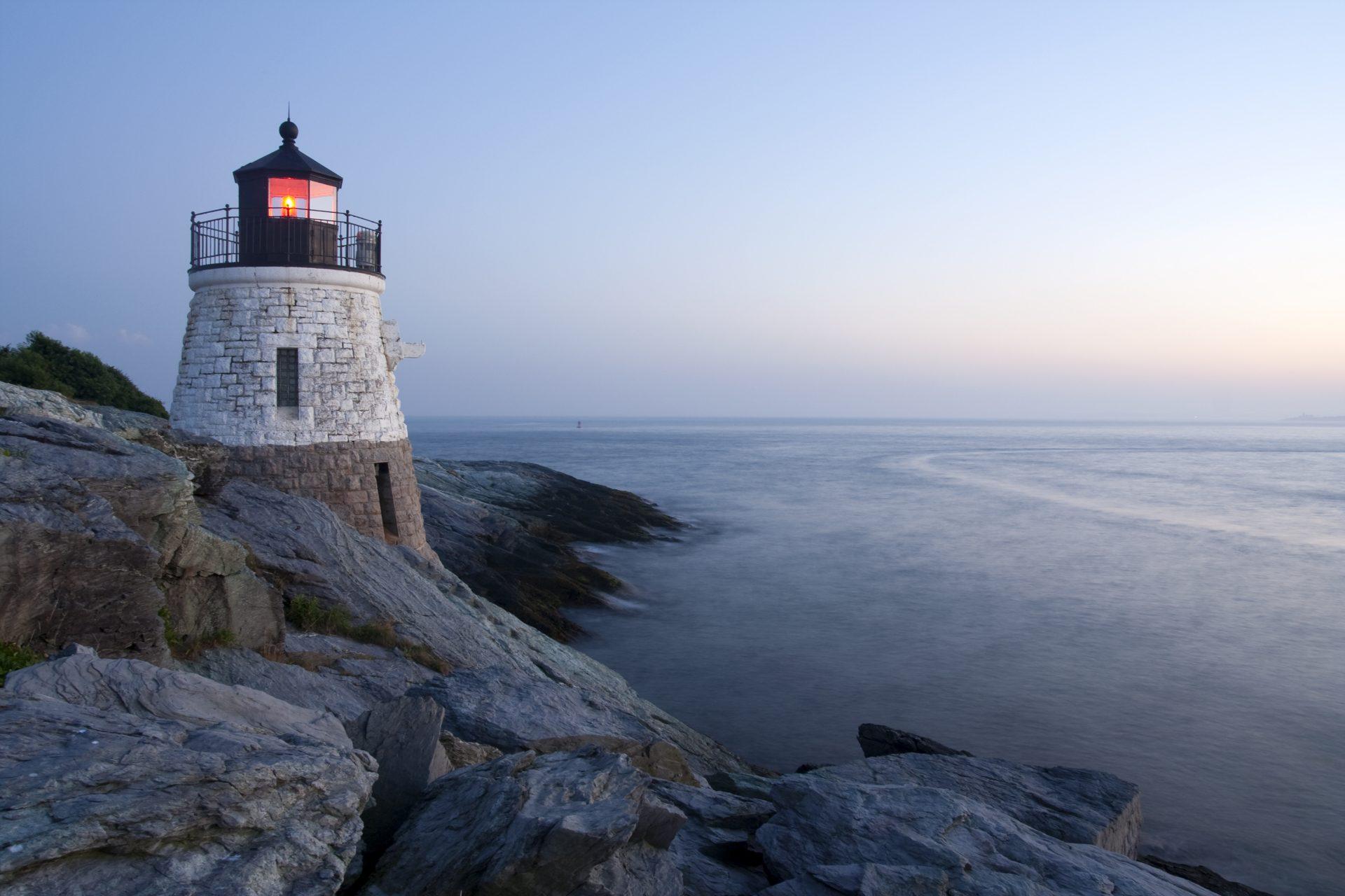 Castle Hill Lighthouse in Newport, Rhode Island