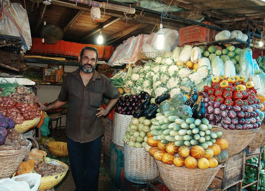 The market in Mumbai