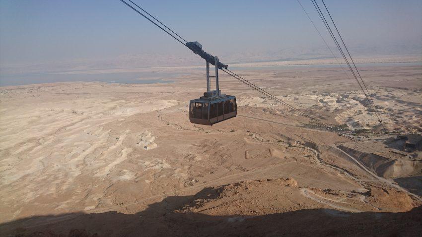 The cable car to Masada, Israel