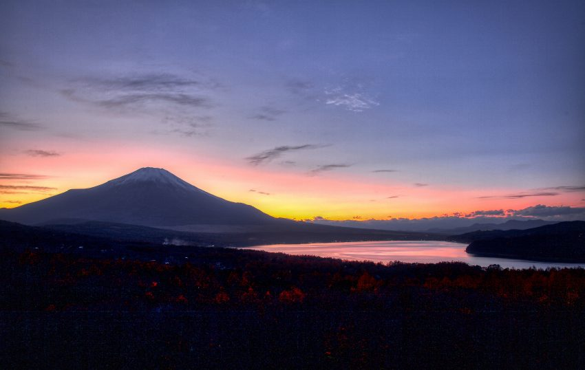 Panoramic Deck Sunset Mt Fuji