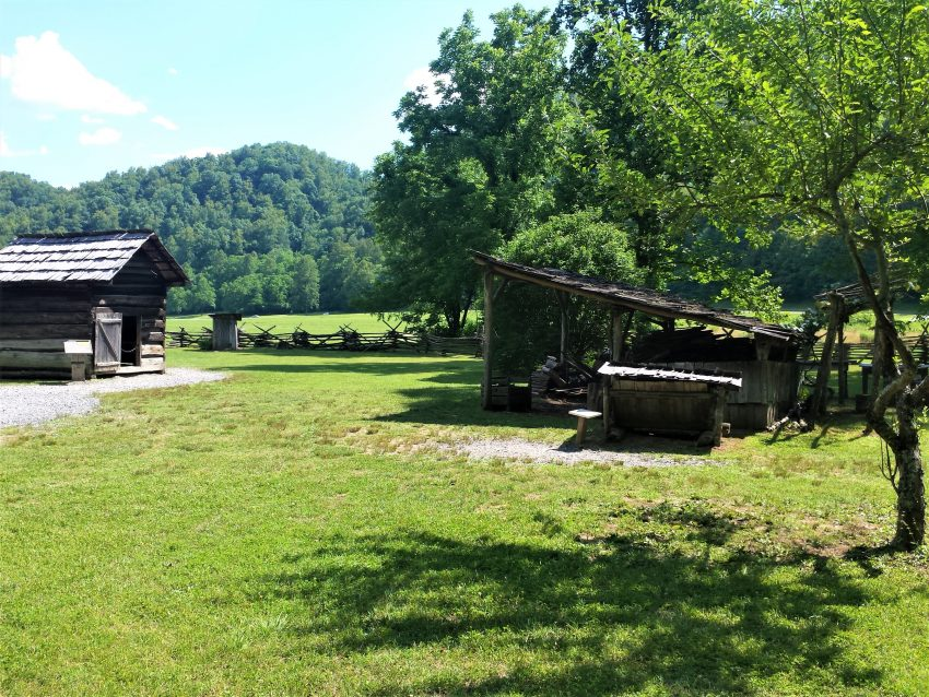 Some of the structures at Mountain Farm Museum 10 Things to Do With Kids in the Great Smoky Mountains