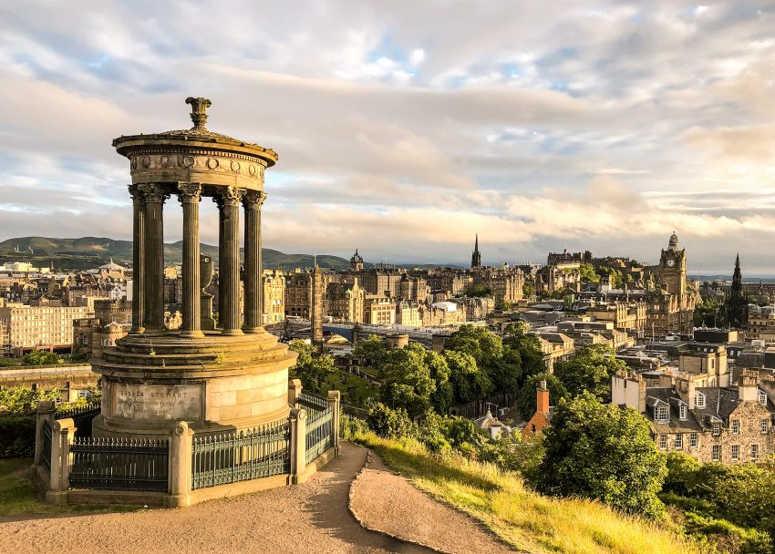 Calton Hill Edinburgh Scotland Tourism Renaissance: Where Should You Travel in 2021?