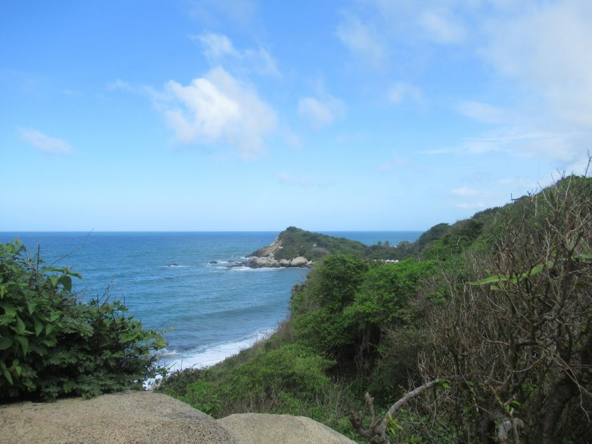 one of views along the hike in Tayrona National Park – A Great Weekend Escape from Cartagena
