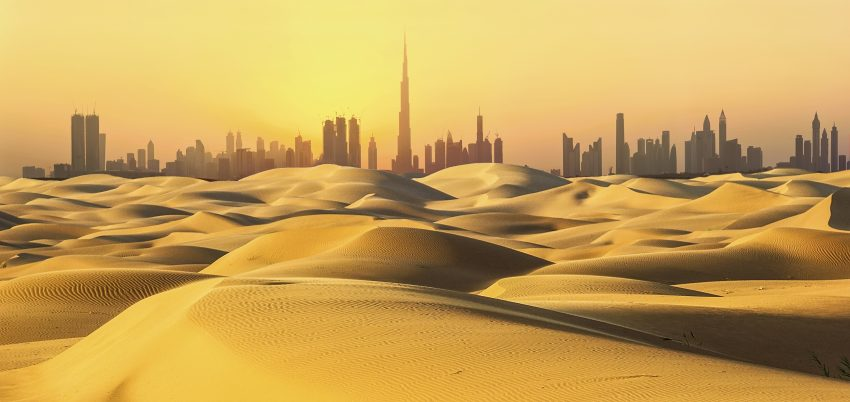 Dubai Desert skyline view