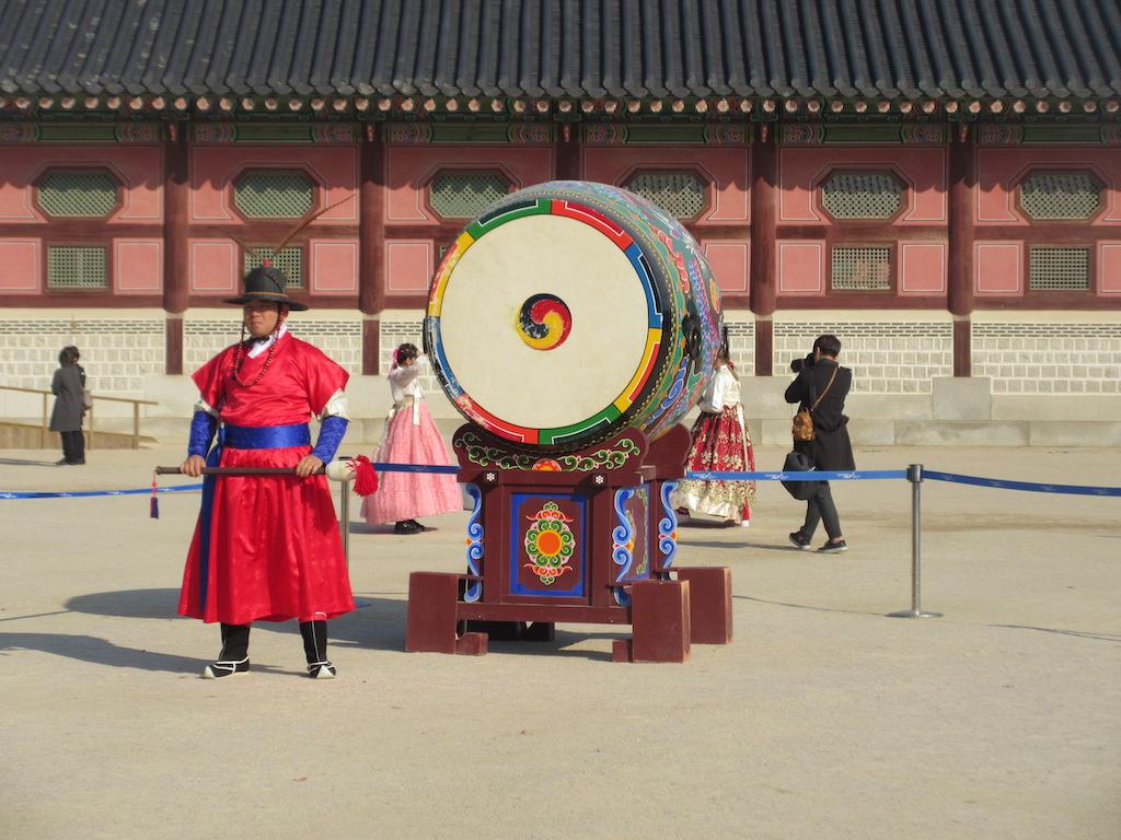 Gyeongbokgung Palace (man with drum)