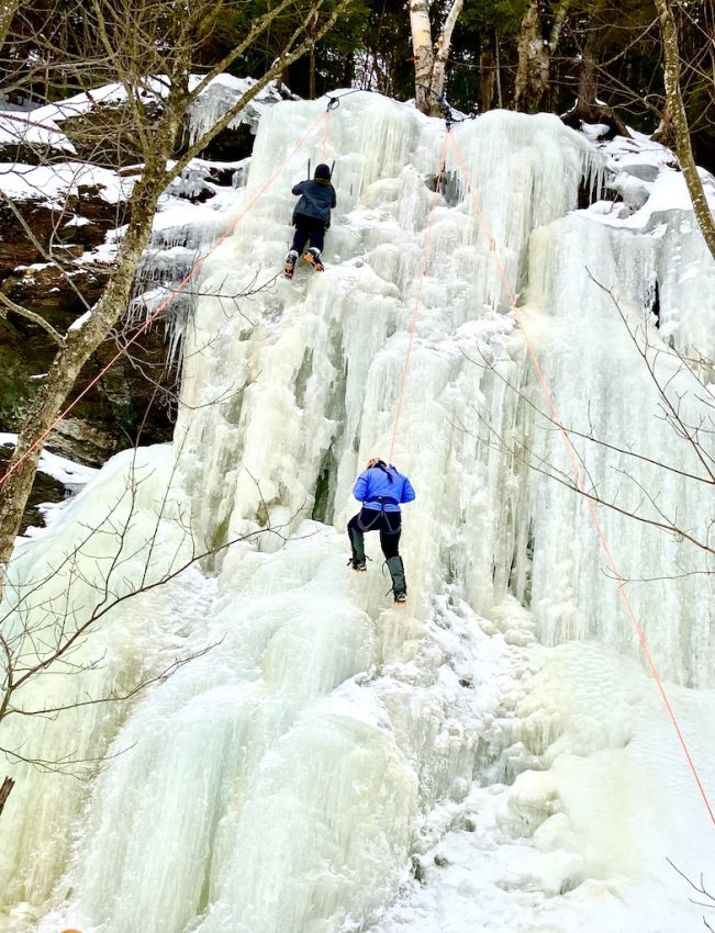 Ice Climbing by Karen Warren of Outdoor Adventure Sampler