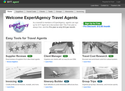 Example of custom host agency page