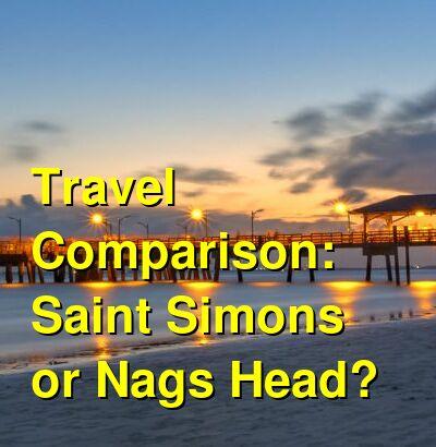 Saint Simons vs. Nags Head Travel Comparison