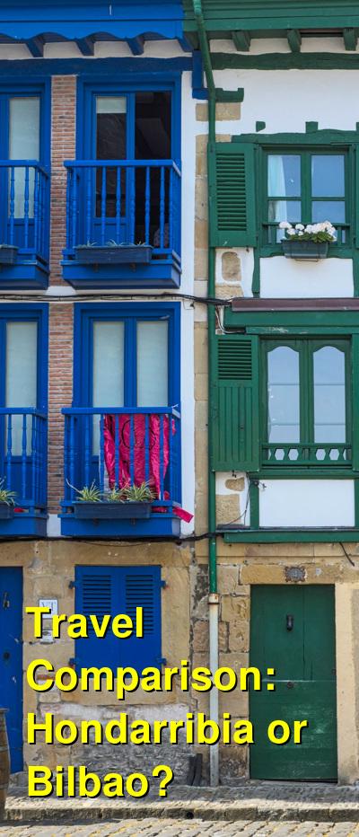 Hondarribia vs. Bilbao Travel Comparison