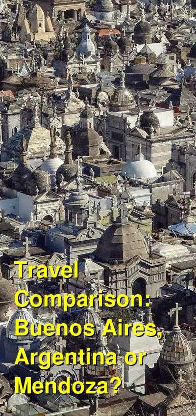 Buenos Aires, Argentina vs. Mendoza Travel Comparison