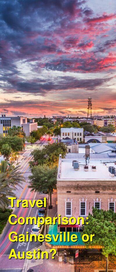 Gainesville vs. Austin Travel Comparison