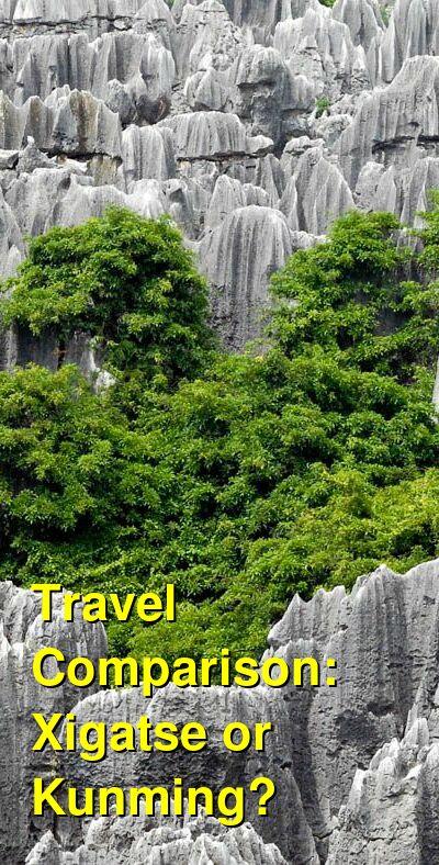 Xigatse vs. Kunming Travel Comparison
