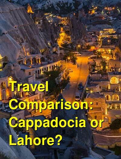 Cappadocia vs. Lahore Travel Comparison