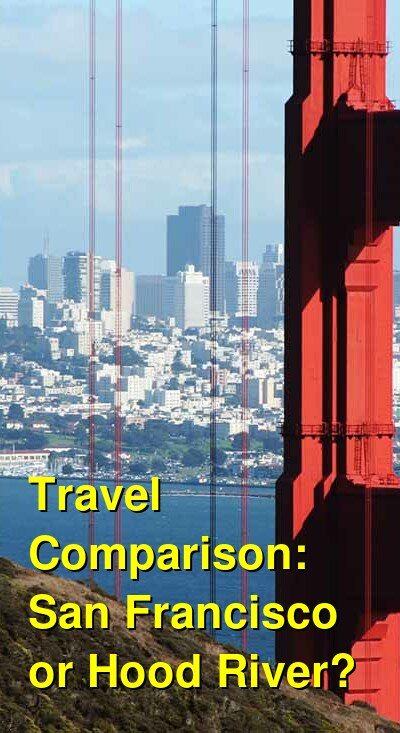 San Francisco vs. Hood River Travel Comparison