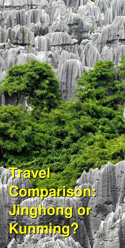 Jinghong vs. Kunming Travel Comparison