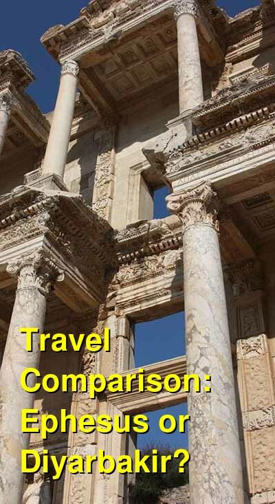 Ephesus vs. Diyarbakir Travel Comparison
