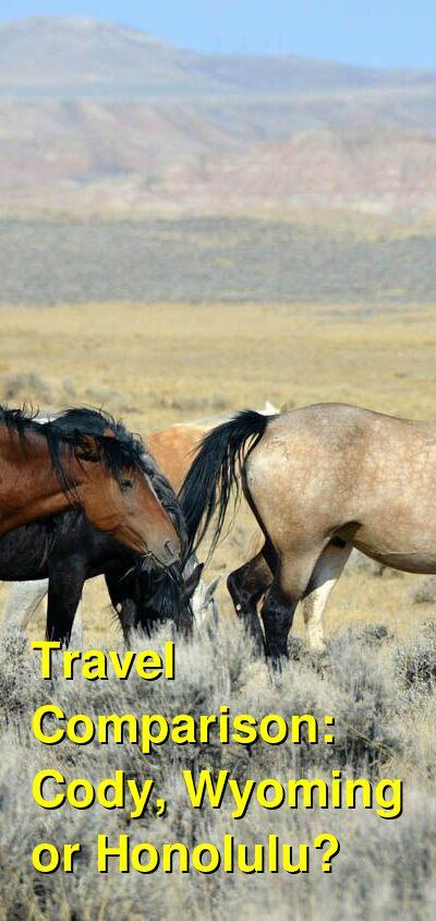Cody, Wyoming vs. Honolulu Travel Comparison