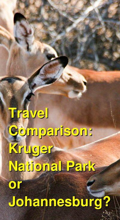 Kruger National Park vs. Johannesburg Travel Comparison