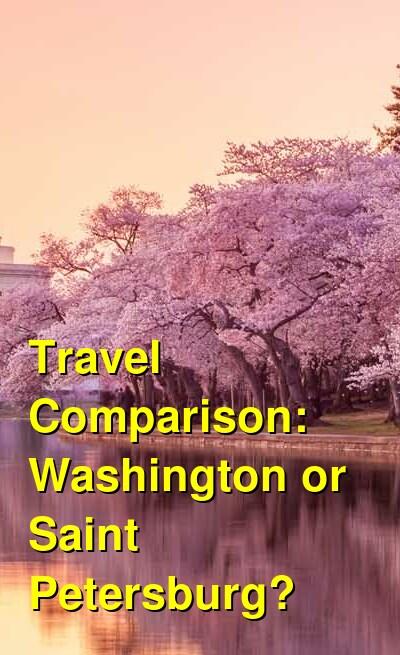 Washington vs. Saint Petersburg Travel Comparison