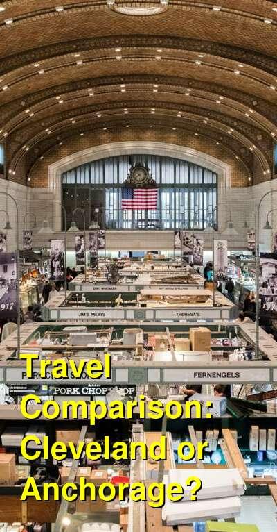 Cleveland vs. Anchorage Travel Comparison