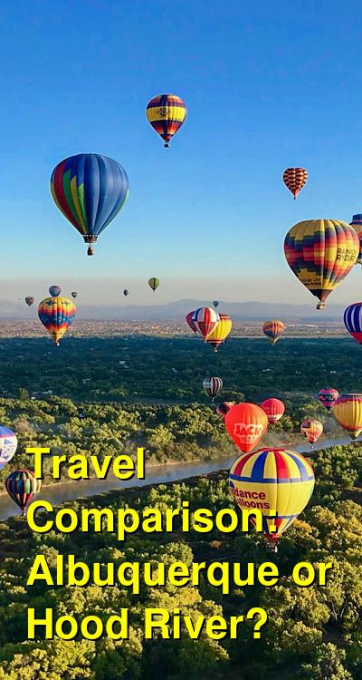 Albuquerque vs. Hood River Travel Comparison