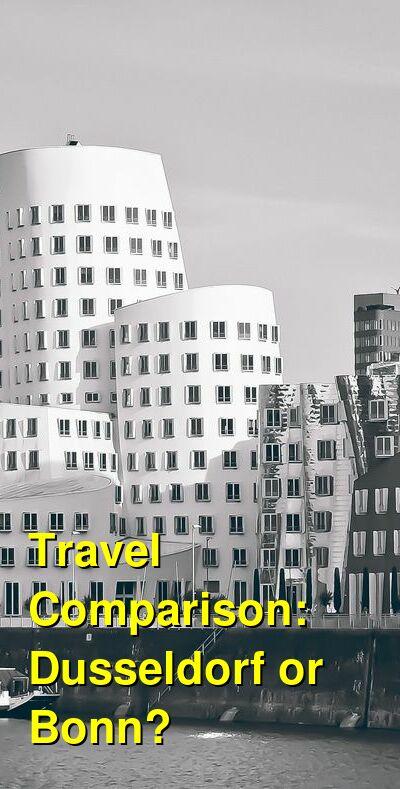 Dusseldorf vs. Bonn Travel Comparison