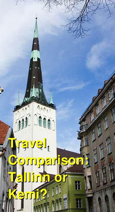 Tallinn vs. Kemi Travel Comparison