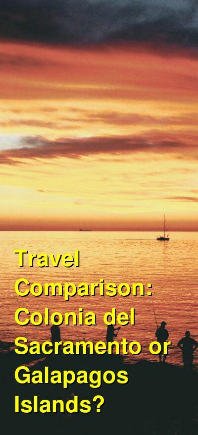 Colonia del Sacramento vs. Galapagos Islands Travel Comparison