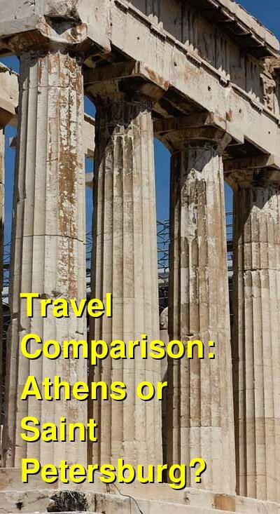Athens vs. Saint Petersburg Travel Comparison