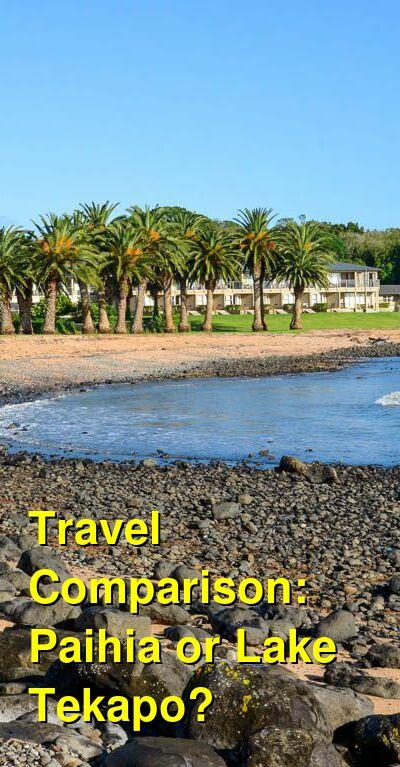 Paihia vs. Lake Tekapo Travel Comparison