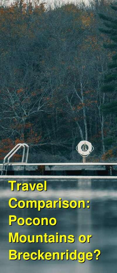 Pocono Mountains vs. Breckenridge Travel Comparison